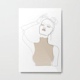 Beige Touch Metal Print