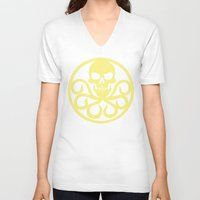 hydra V-neck T-shirts featuring Hail Hydra by Popp Art