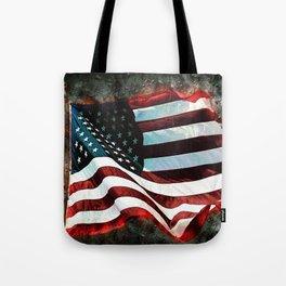 Abstract USA Flag Tote Bag