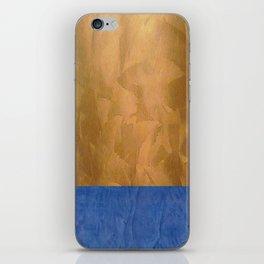 Copper Metallic With Tuscan Blue Stripe Trim iPhone Skin