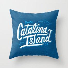 Catalina Island Blue Throw Pillow