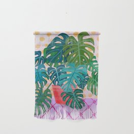 Split Leaf Philodendron Houseplant Painting Wall Hanging