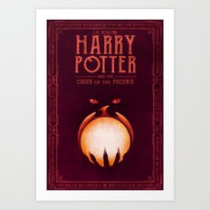 HP Book 5 (Book Cover) Art Print