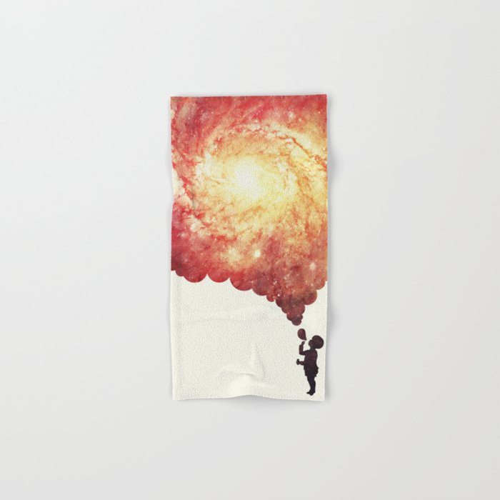 The universe in a soap-bubble! (Awesome Space / Nebula / Galaxy Negative Space Artwork) Hand & Bath Towel