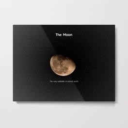 Mr. Moon Metal Print