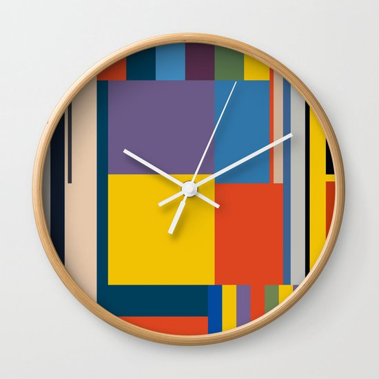 BAUHAUS RISING Wall Clock By THE USUAL DESIGNERS
