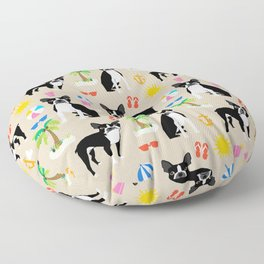 Boston Terrier beach summer vacation dog breed gifts must have boston terriers Floor Pillow
