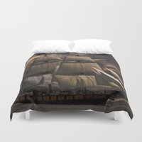 sailing Duvet Covers featuring Sailing by Kristiana Art Prints