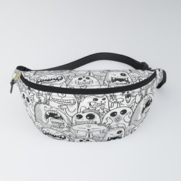 Monsters Pattern Fanny Pack