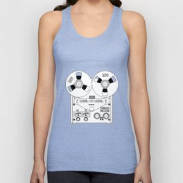 Reel To Reel Line Drawing Unisex Tank Top
