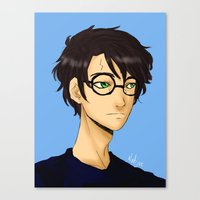 harry potter Canvas Prints featuring Harry Potter by Nabjae