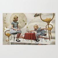 tea Area & Throw Rugs featuring tea time by Heather Landis