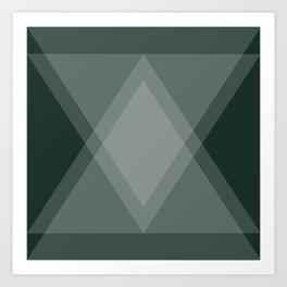 Emerald Green Diamond Argyle Art Print