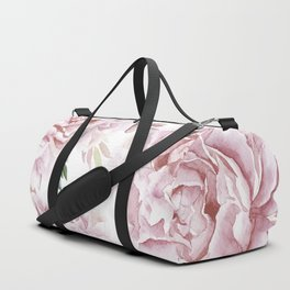 Pretty Pink Roses Flower Garden Duffle Bag