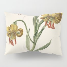 M. de Gijselaar - Branch with three yellow lilies (1834) Pillow Sham