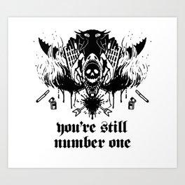 NUMBER ONE Art Print