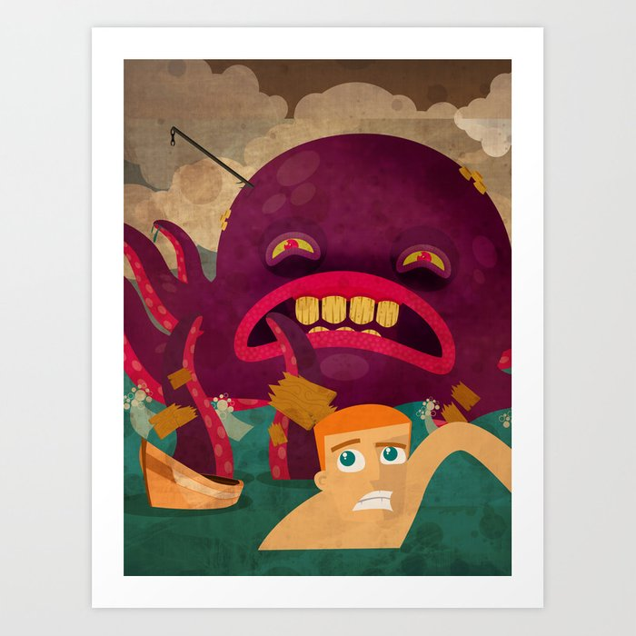 giant octopus Art Print