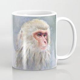 Snow Monkey Watercolor Animal Coffee Mug