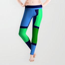 Mondrianista green blue Leggings