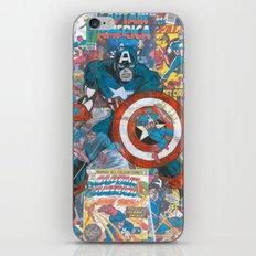 Vintage Comic Capt America iPhone & iPod Skin