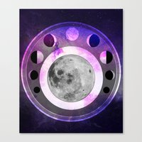 moon phase Canvas Prints featuring Moon Phase by Fantastikat