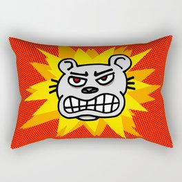 Angry bear Rectangular Pillow