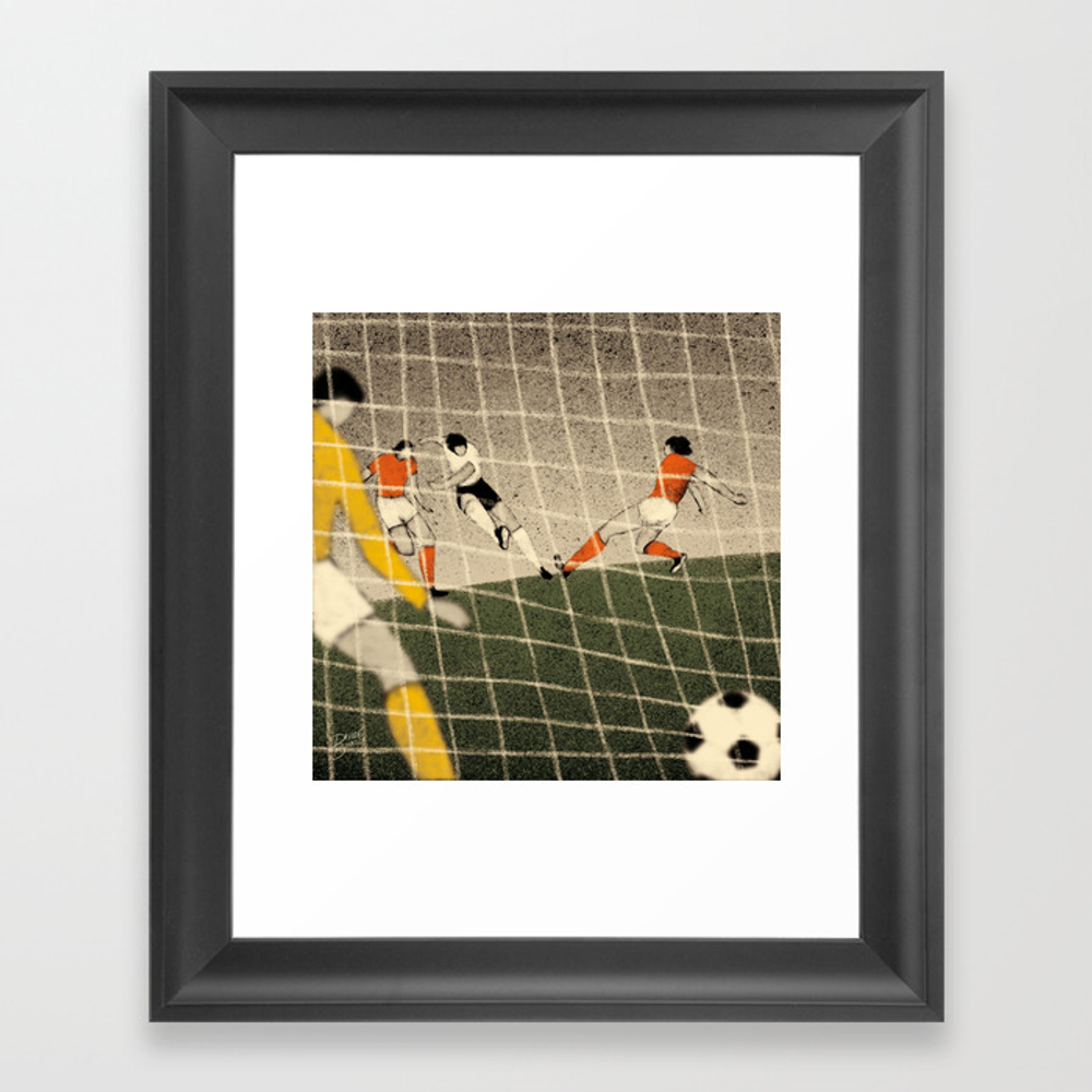 History Of Fifa World Cup - Germany 1974 Framed Art Print by Davidebonazzi FRM2804696