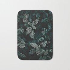 Dark Leaves 3 Bath Mat