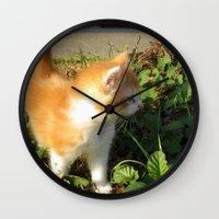 bill Wall Clocks featuring Bill by aintevenconcerned