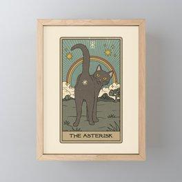 The Asterisk Framed Mini Art Print