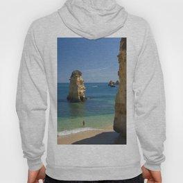 Rock on the beach, the Algarve coast, Portugal Hoody