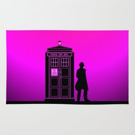 Tardis With The Fifth Doctor Rug