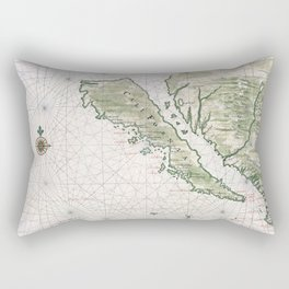 Old Map Of California Island Rectangular Pillow