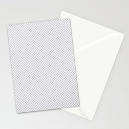 Quiet Soft Gray and White Mini Check 2018 Color Trends Stationery Cards
