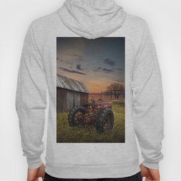 Abandoned Farmall Tractor and Barn Hoody