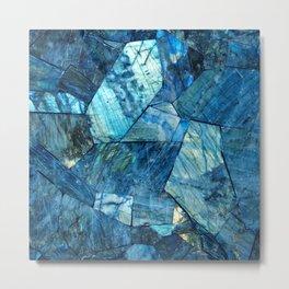 Labradorite Blue Metal Print