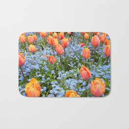 Tulips and Forget Me Nots Bath Mat