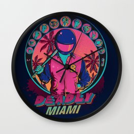 Deadly Miami Wall Clock