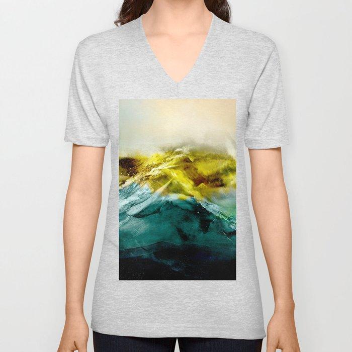 Abstract Mountain Unisex V-Neck