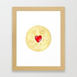Jammie Dodger, Biscuit Framed Art Print
