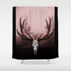C-2 Horns Shower Curtain