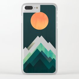 Ablaze on cold mountain Clear iPhone Case