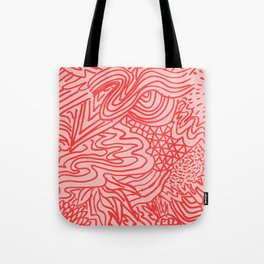 high red Tote Bag