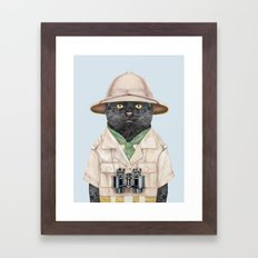 Safari Cat Framed Art Print