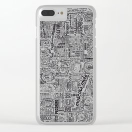 Drinks Full Tag Cloud Clear iPhone Case