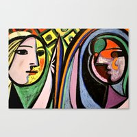 picasso Canvas Prints featuring Picasso by Kathleen Carroll