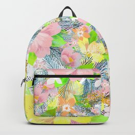 Colorful flowers pattern Backpack
