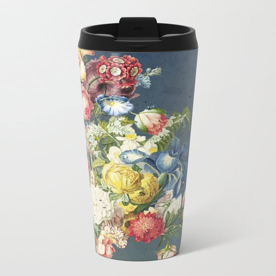Floral Tribute to Louis McNeice Metal Travel Mug