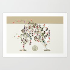 Spring shoe tree Art Print