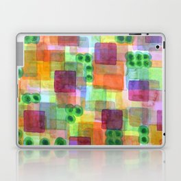 Red Bungalows and Trees Laptop & iPad Skin